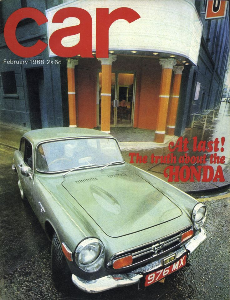 Collectable: Car Magazine Honda S800 review February 1968