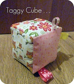 Taggy cube.. Adalyn LOVES the taggies..