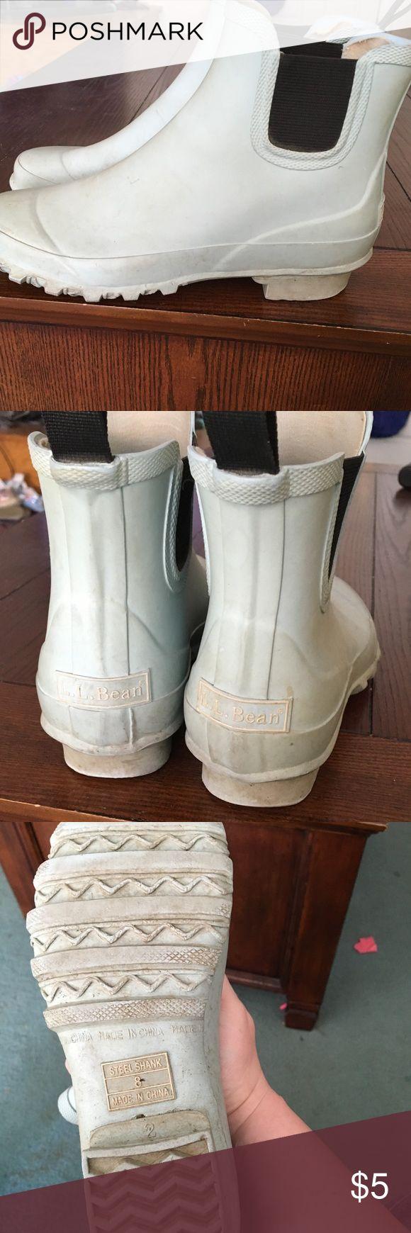 "LL Bean rain boots Used condition LL Bean rain boots. ""Steel Shank"". Ankle height LL Bean Shoes Winter & Rain Boots"