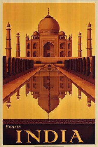 Art Deco India travel poster