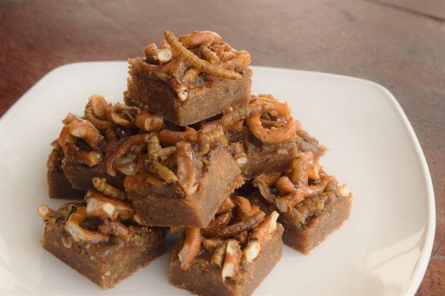 Brown Butter Beetle & Pretzel Butterscotch Blondies from CuliNex