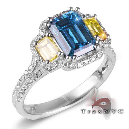 Blue and canary diamonds