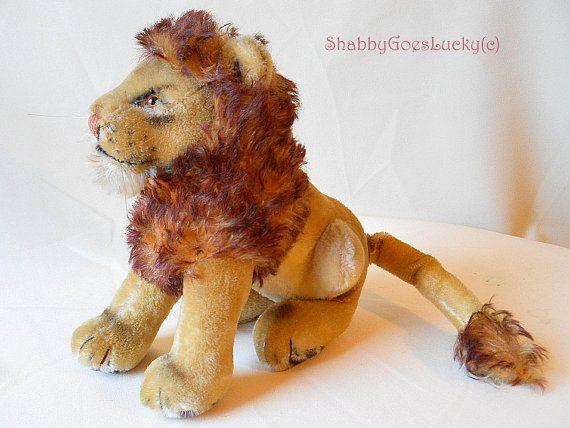 Vintage German Mohair Stuffed Animal - Lion