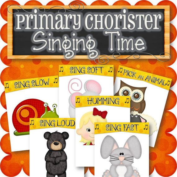 Primary Chorister Singing Time for Fun Songs by TimeSavors