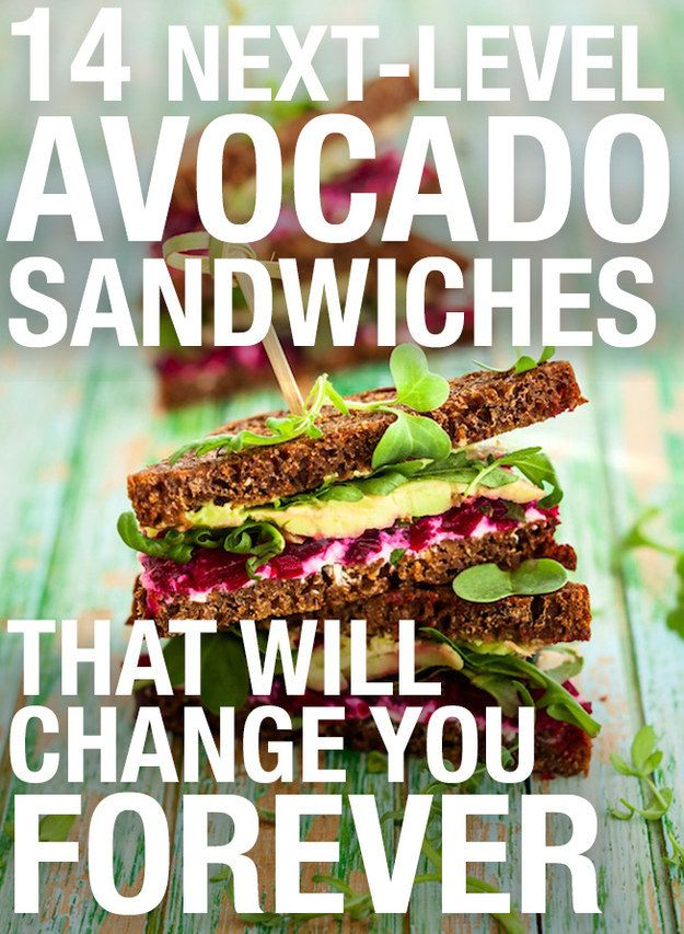 These delicious avocado sandwiches will change you forever.
