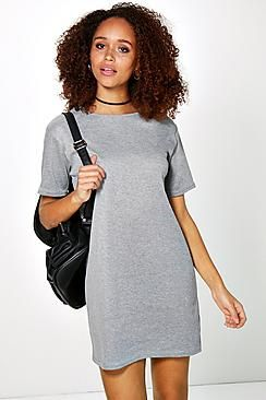 ¡Cómpralo ya!. Vestido De Corte Recto Acanalado Estilo Camiseta Carina. Pared back day dresses are the perfect base for layering up this seasonNo off-duty  wardrobe is complete without a  casual day dress. Basic bodycon dresses are always a winner and casual cami dresses a key piece for  pairing with a polo neck, giving you that effortless everyday edge.  Tone down the twinkle for day by teaming a sequin slip dress with a  jersey tee ? genius! So, if you ever get caught out for…