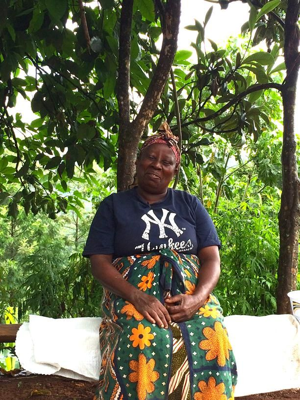 Mrs Irungu, Francis's mom, at her homestead in Gakindu, Nyeri Region, Kenya