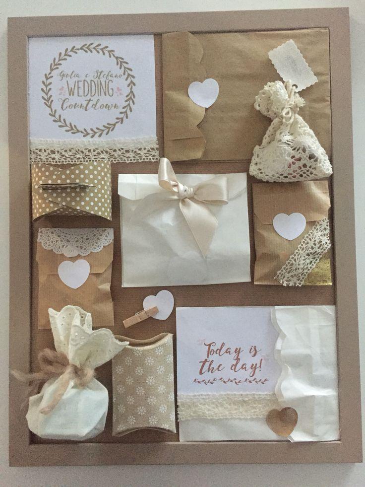 Giulia&Stefano Wedding Countdown - Wedding Advent Calendar - Bride Gift