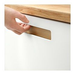 """IKEA - MÄRSTA, Door, 15x30 """", , The silky smooth finish and integrated handles on MÄRSTA door give a sophisticated modern expression.You can personalize the look by choosing between 4 colors for the handles. Use one that matches or contrasts with the rest of your kitchen.Melamine is very durable, resistant to moisture, staining, scratching and impacts. It is easy to clean.25-year Limited Warranty. Read about the terms in the Limited Warranty brochure.You can choose to mount the door on the…"""