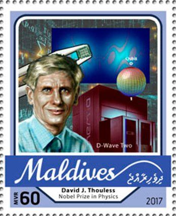 Stamp: David J. Thouless, Nobel Prize in Physics (Maldives) (Nobel Prize winners 2016) Mi:MV 6812