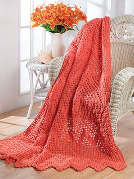 Crochet World Afghan of the Month: July 2014 - Free Crochet Pattern Coral Reef Ripple Design by Darla Fanton