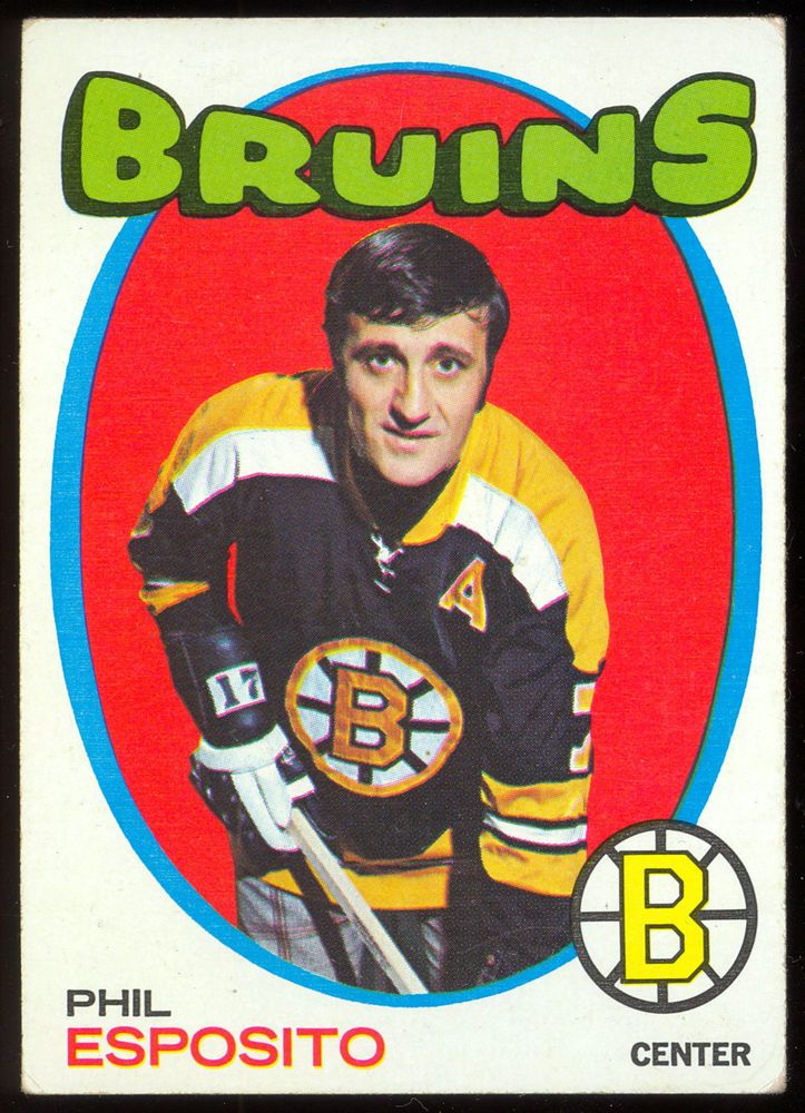 1971-72 TOPPS #20 PHIL ESPOSITO EX-NM BOSTON BRUINS HOCKEY CARD FREE SHIP TO USA…