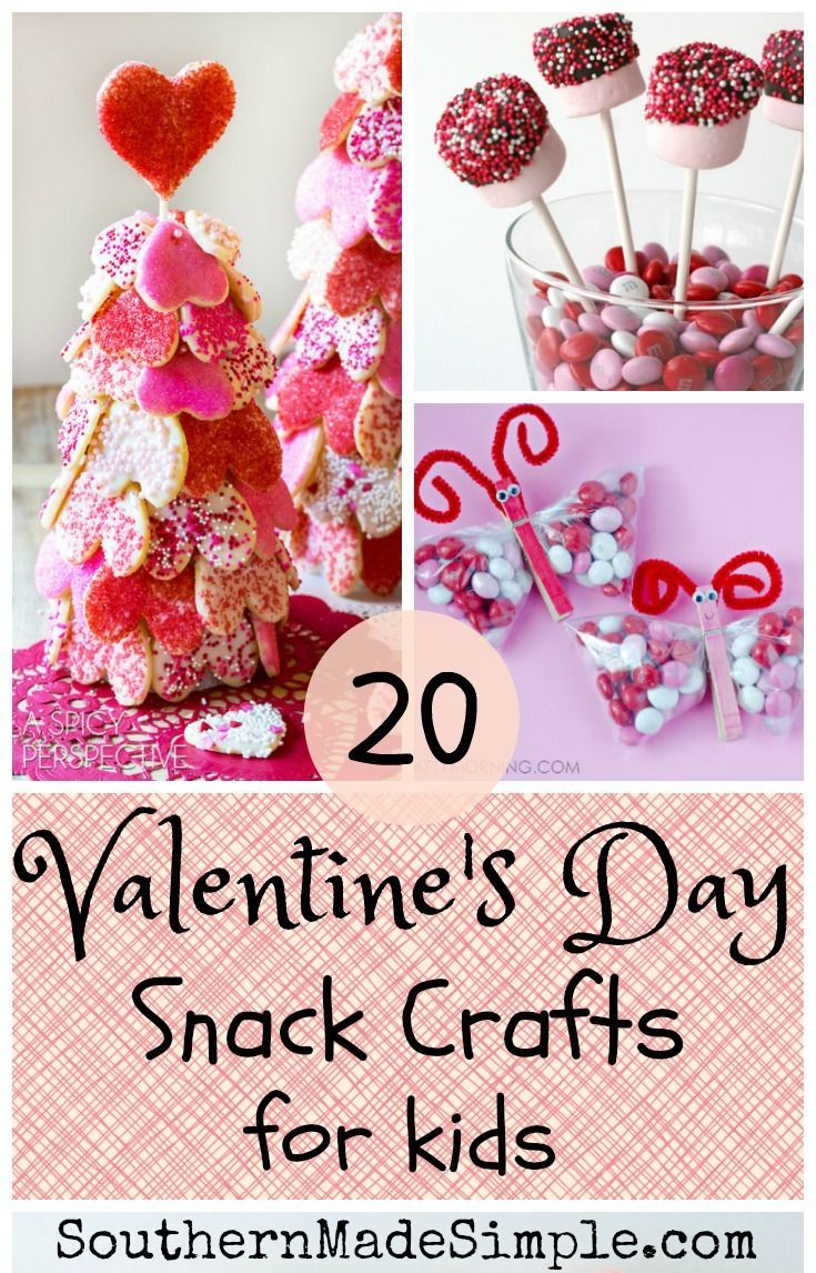 Valentine's Day Snack Crafts for kids - a collection of the sweetest and most adorable edible valentine treats perfect for the kiddos!