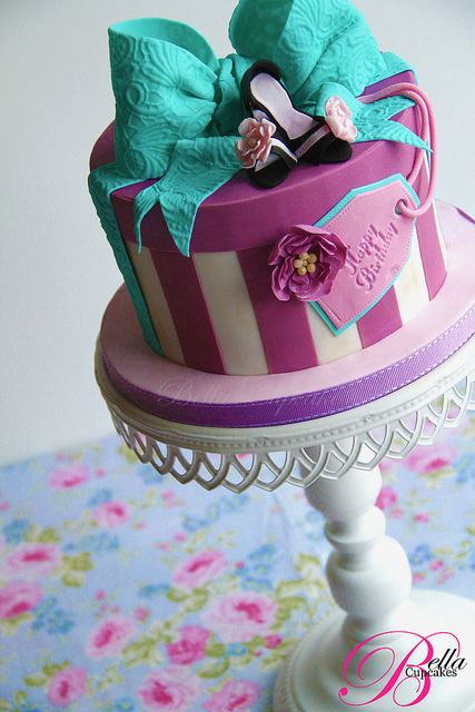 Best 25 gift box cakes ideas on pinterest beautiful birthday love the ribbon on the box negle Image collections