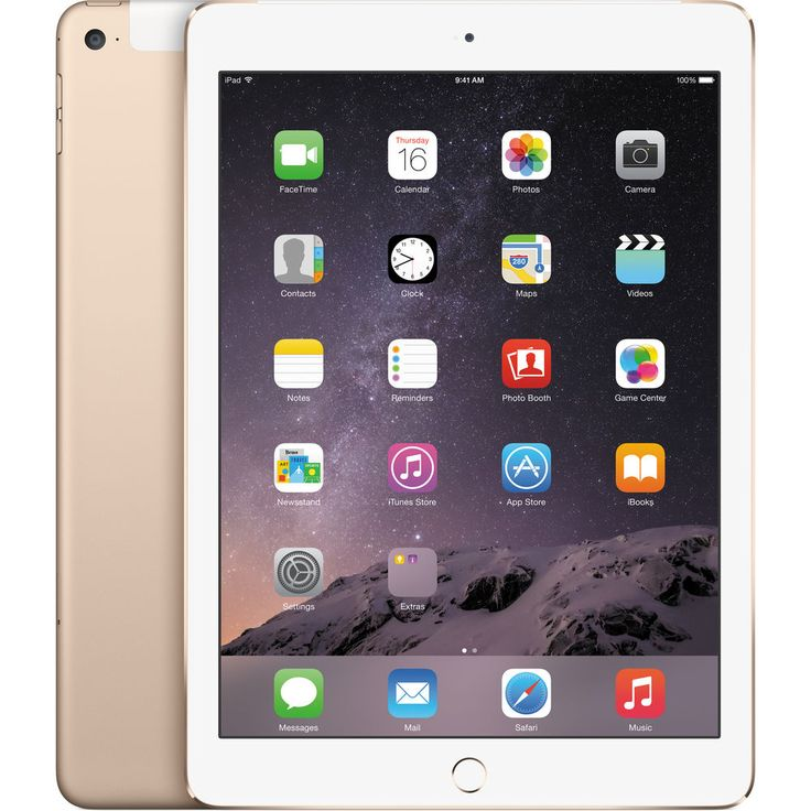 Image of Apple iPad Air 2 64GB 4G LTE Tablet - Gold