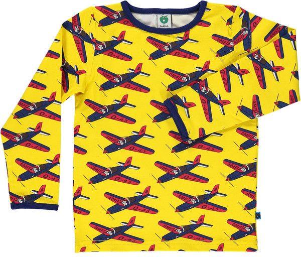 Smafolk Yellow Planes Long Sleeved T-shirt