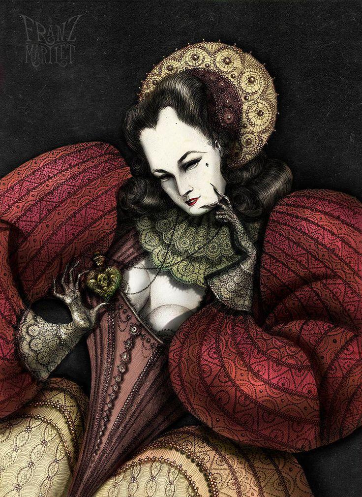 #dita fon teese #queen #art #drawing #cg #traditional art #franz_martlet #poison
