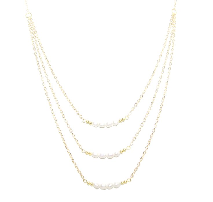 ValentinaNecklace - WhitePearl -  The ultimate statement piece in our debut collection, our Valentina necklace is your instant route to sure-fire sophistication and glamour. Add to an open neckline or cocktail dress, shimmer through your evening and bask in its alluring power.  Made using our sparkling 14 carat gold-plated fine chain and accentuated with freshwater pearls. Finished with a lobster clasp fastening, an extension chain and a HOLLYGALORE charm. £54.99
