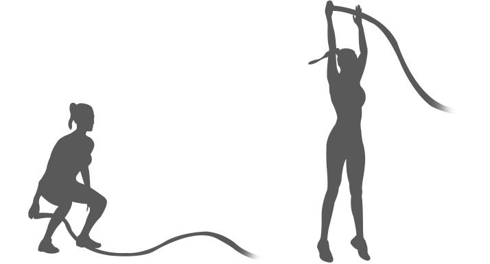 1000  ideas about battle rope workout on pinterest