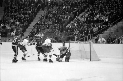 Tony Esposito with the Western League Vancouver Canucks.