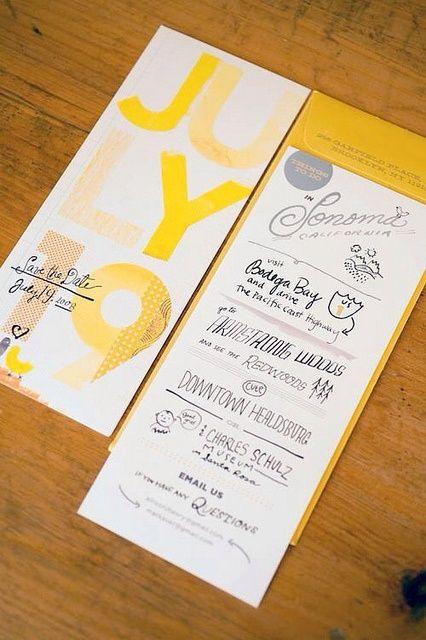 Ideas para una boda con pinceladas en color amarillo.