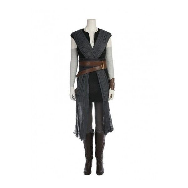 Star Wars VIII Rey Adult Cosplay deluxe CostumeNew design and more... ($168) ❤ liked on Polyvore featuring costumes, adult cosplay costumes, star wars halloween costumes, adult role play costumes, deluxe adult costumes and deluxe adult halloween costumes