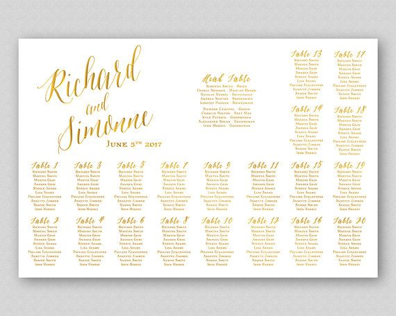45 best Wedding reception printables images on Pinterest - wedding chart