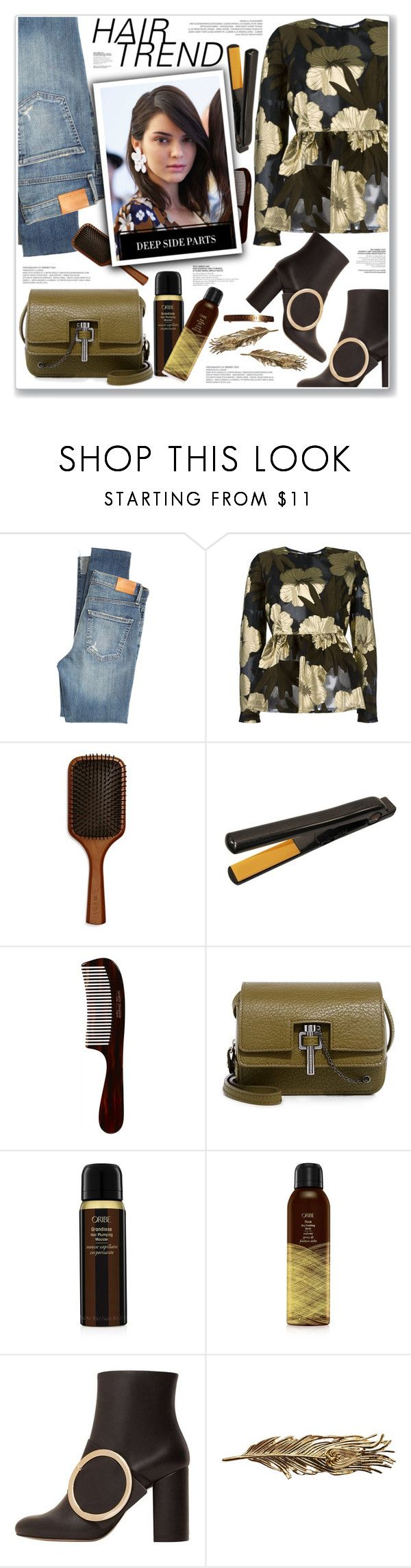 """HAIR TREND"" by nanawidia ❤ liked on Polyvore featuring beauty, Citizens of Humanity, P.A.R.O.S.H., Aveda, CHI, Mason Pearson, Carven, Oribe, MANGO and Johnny Loves Rosie"