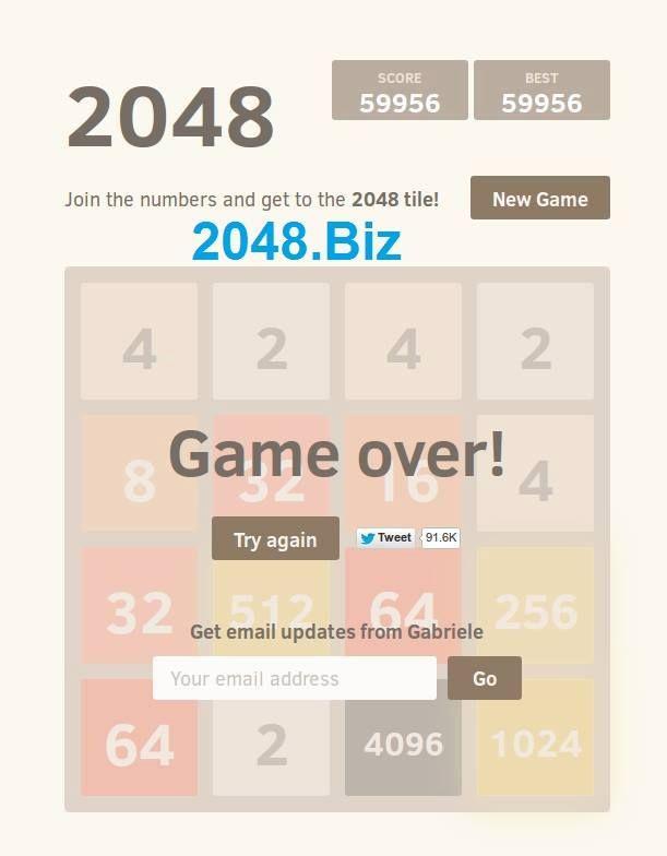 2048 game hight score