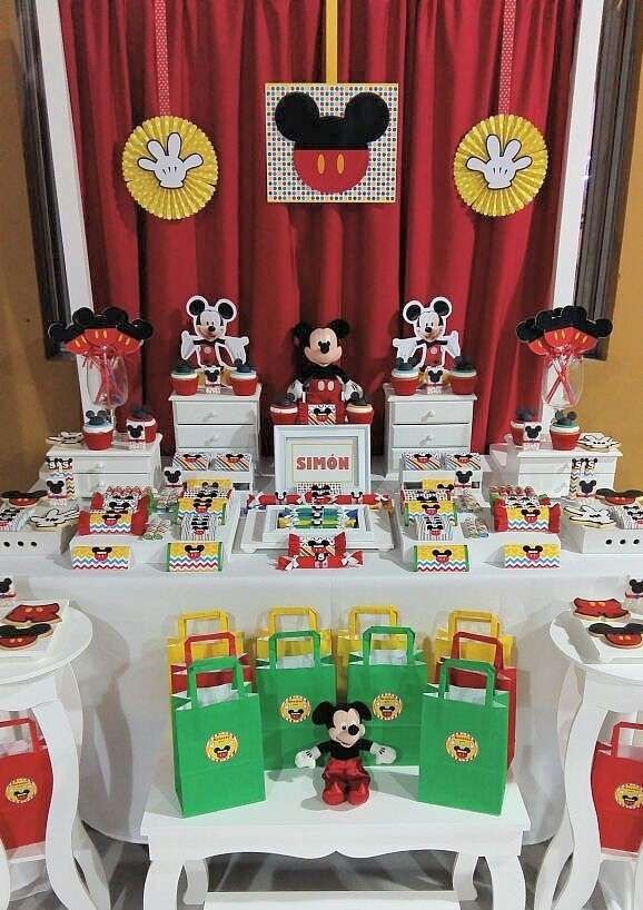 Love this Mickey Mouse birthday party! See more party ideas at CatchMyParty.com!