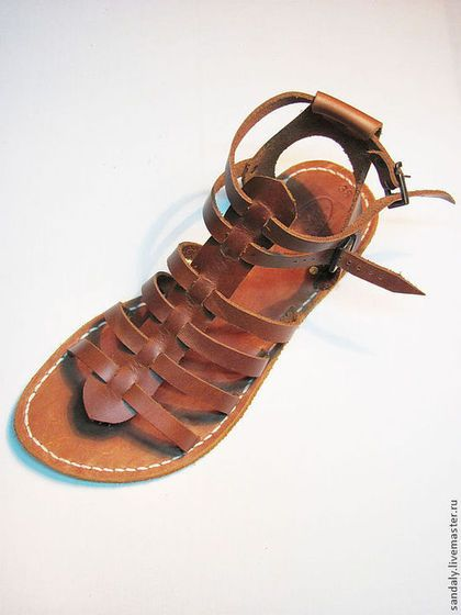 Обувь ручной работы. Ярмарка Мастеров - ручная работа. Купить Греческие сандалии №2. Handmade. Коричневый, натуральная кожа