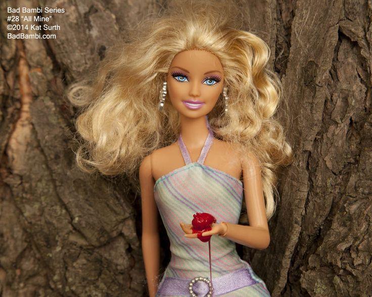 "Bad Bambi Series 28 ""All Mine"" ©2014 Kat Surth. A Barbie™ doll parody artwork."