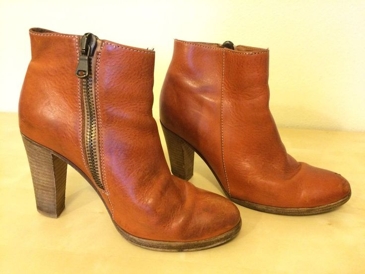 Madewell 1937 footwear Rust Orange Ankle Boots Size 6 5 | eBay