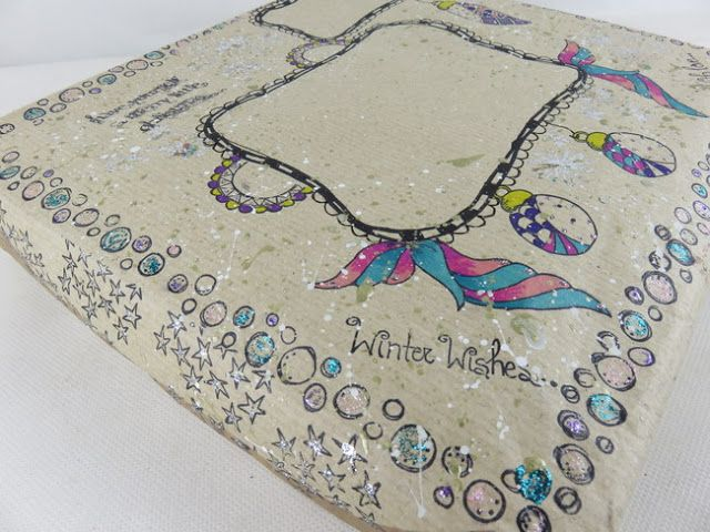 PaperArtsy: 2016 #24 Glittering Up The Mailbox {by Darcy Wilkinson}