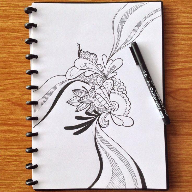 Ketika keindahan mempunyai banyak cara..  #doodling #sketchdaily #bnw #indonesia #pinme