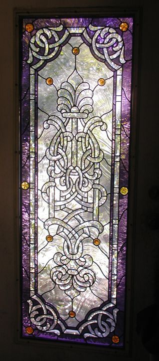 Studio leaded stained glass door..gorgeous