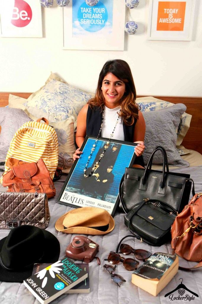 Mahima Gujral sharing her travellers-wardrobe.  Featured in our #LockerStyle diaries.