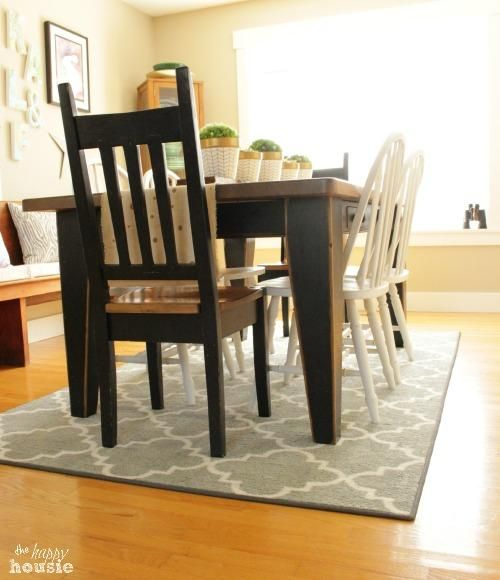Our New Dining Room Rug {and a Mohawk Rug Giveaway!} #http://thehappyhousie.com #Ilovemymohawkrug #diningroom #homedecor #remodel #arearug