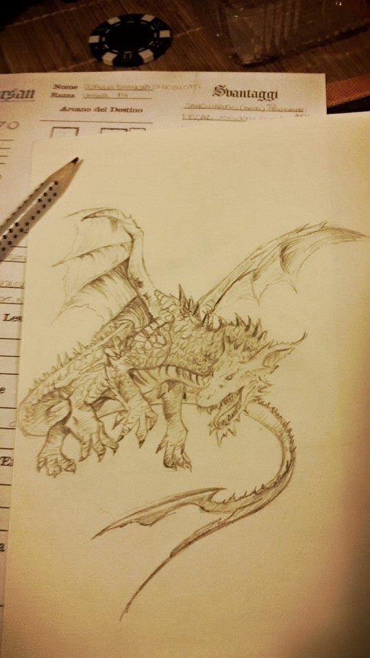 Drago in matita