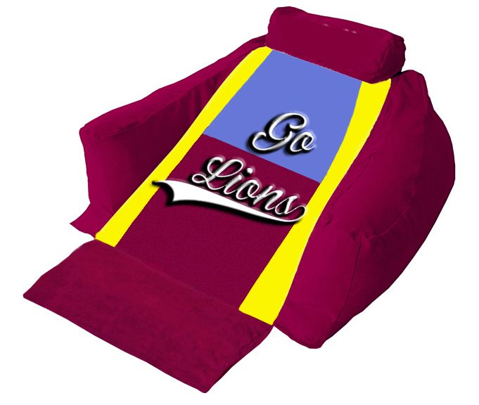 Watch in comfort the mighty fighting spirit of the Brisbane Lions on your Wedg-eze Lounger!.  #golions #afl #wedgeze