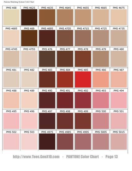 Best  Pantone Chart Ideas On   Pantone Color Chart