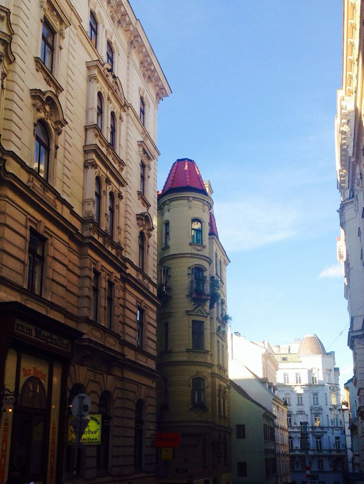 #Vienna #streets #center #buildings #walk #sky