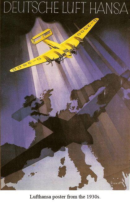 Old Lufthansa travel poster