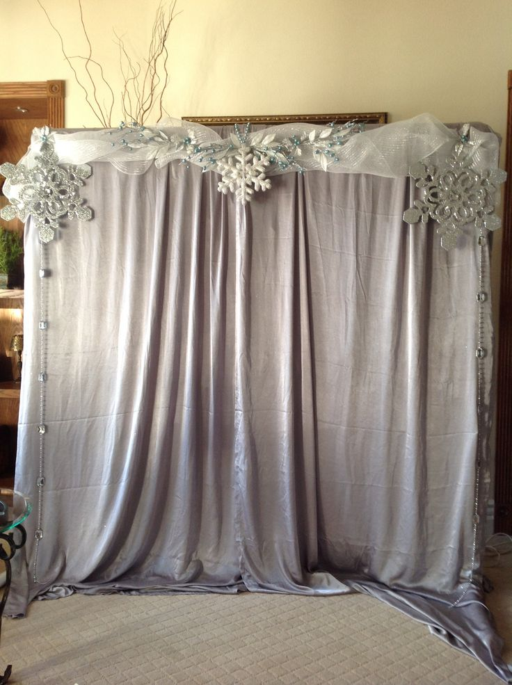 Winter wonderland photo backdrop