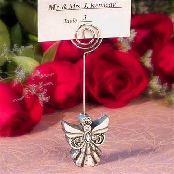 angel design place card holder are cheap table decorations