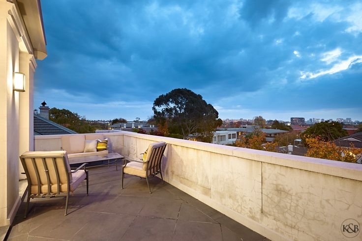 City views from the balcony | 5/1 Tintern Avenue Toorak