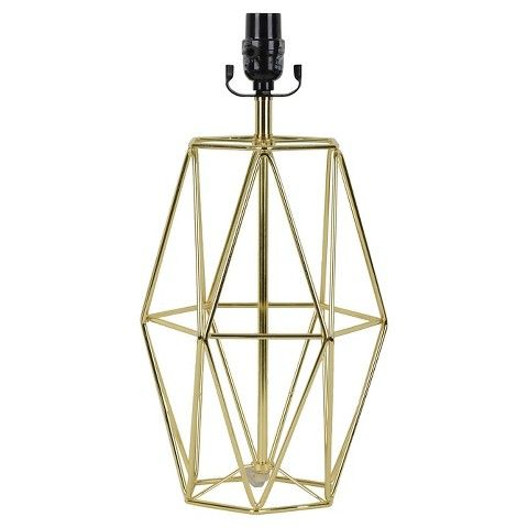 Nate Berkus™ Open Metal Lamp Base - Gold $40