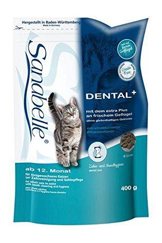 Aus der Kategorie Sanabelle  gibt es, zum Preis von EUR 2,99  <p>SANABELLE Dental</p> <p>Alleinfuttermittel für ausgewachsene Katzen mitsensibler Mundhygiene - vorzugsweise zurZahnreinigung und Gebisspflege</p> <p>Sanabelle Dental ist besonders geeignet für alleausgewachsenen Katzen mit einer Neigung zuernährungsbedingten Empfindlichkeiten im Bereich derMundhygiene. Hierfür verantwortlich ist die entsprechendeGröße und Oberflächenbeschaffenheit der Krokette, die IhreKatze zum ausgeprägten…