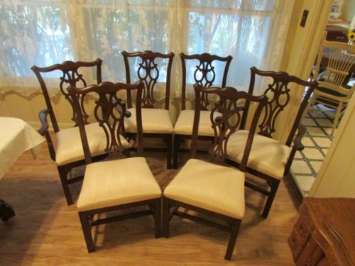 ethan allen georgian court chippendale dining chairs cherry 6 chairs georgian court georgian and dining chairs