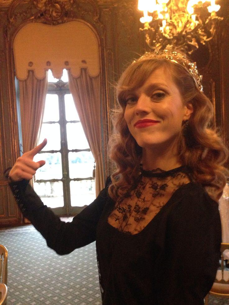 Beautiful Alice, our model #princess #tall #model #luxurybrand #laceshirt